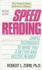 Speed Reading, Robert L. Zorn, 0061093017