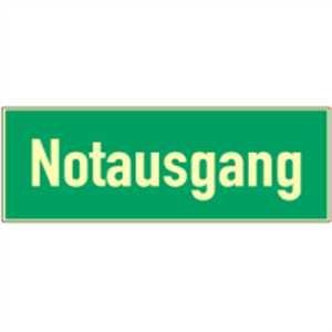 Schild Notausgang HIGHLIGHT Alu 14,8 x 29,7cm
