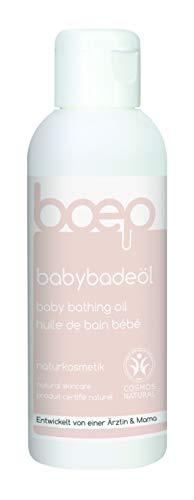 boep babybadeöl - Naturkosmetik Badezusatz aus Bio-Jojobaöl und Mandelöl für Babys und Kinder - Liebevoll entwickelt von einer Ärztin und Mama (150ml)