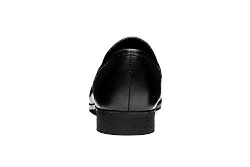 OPP Hombres Flats Zapatos de Piel Zapatos de vestir Negro