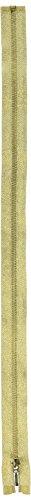 Coats & Clark Brass Separating Metallic Zipper 24in Gold, 24
