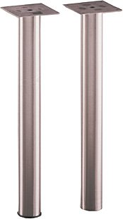 Gibraltar Stainless Steel Table Leg W/ 2 Inch Diameter