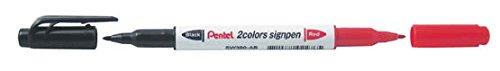 12pcs Pentel SW380-AB 2 Colors Sign Pen (Box Set) - Red/Black