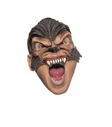 [Disguise Costumes Wolfman Vinyl Chinless Mask, Adult] (Wolf Costume Halloween Express)