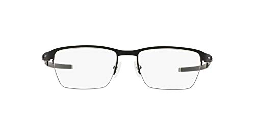 OX5099 Tincup 0.5 TI Square Titanium Eyeglass Frames, Powder Coal/Demo Lens, 53 mm