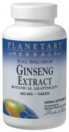 Planetary Herbals Full Spectrum Ginseng Extract Tablets, 90 Count