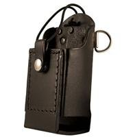(Boston Leather Firefighter's Radio Holder with D-Rings & Elastic)