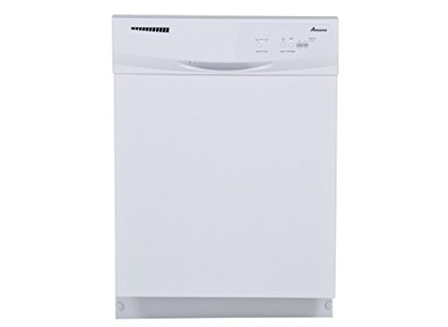 "AMANA ADB1100AWW Built-In Tall Dishwasher with Electronic Front Controls and 3 Cycles, 24"", White"