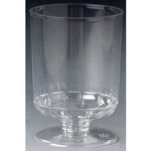 Royal Plasticware Elite Stemware Clear Pedastal Taster Cup, 4 Ounce - 12 per pack - 10 packs per (Royal Stemware)