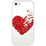 iPhone Fits Apple iPhone 6 / 6S, DECO FAIRY® Ultra Slim Translucent Transparent Silicone Clear Gel Cover (Heart made of - Gucci Bag Clear