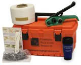 """1/2"""" Woven Polyester Cord Strapping Kit - Contains a 1500' of Woven Polyester Strapping, 100 Wire Buckles, Tensioner with Cutter"""