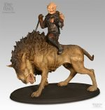 Sideshow Gothmog on Warg Polystone Statue Herr der Ringe Lords of the Rings