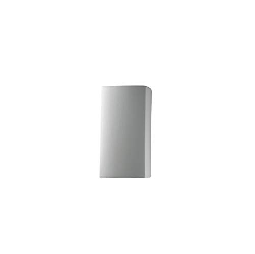 Justice Design Group Lighting CER-5910W-BIS Outdoor Wall Sconce with Ceramic Bisque Shades, White