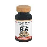 VIT B-6 TABS 250 MG WMILL 60 by Windmill