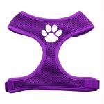Mirage Pet Products Paw Design Soft Mesh Dog Harnesses, Medium, Purple, My Pet Supplies