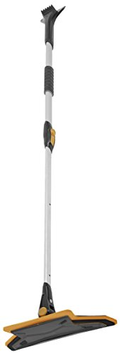 True Temper ABTT5212 Telescoping Scratch-Free Snow Brush with End Scraper and Cushioned Grip, 52-Inch
