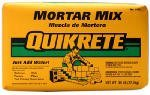 QUIKRETE CO 1102-60 Mortar Mix Bag, 60 Lbs.