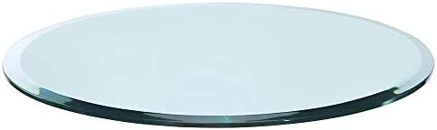 Bassett Glass 42 Round Tempered Glass Table Top – 1 2 Thick – Beveled Polished Edge