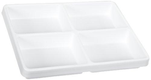 TrippNT 50066 White Polystyrene Plastic Big Drawer Organizer, 4 Compartments, 16.75