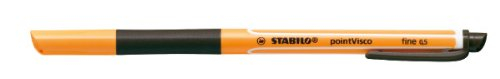 STABILO point Visco schwarz, Einzelstift - Tintenroller mit revolutionärer Tintentechnologie