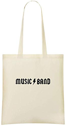 Stylish Printed For musique Logo Bag Custom Grocery Custom amp; groupe de Shoulder Soft Handbag Friendly 100 Cotton Eco Logo du Use Band Bags Music Everyday Tote wx8R8Utq