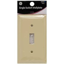 GE Single Switch Wall Plate, Ivory Nylon ()