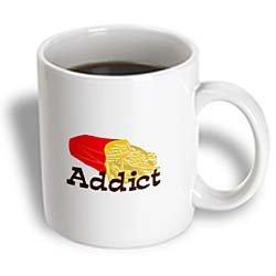 3dRose French Fry Addict Ceramic Mug, 11-Ounce (Photo French Fries)