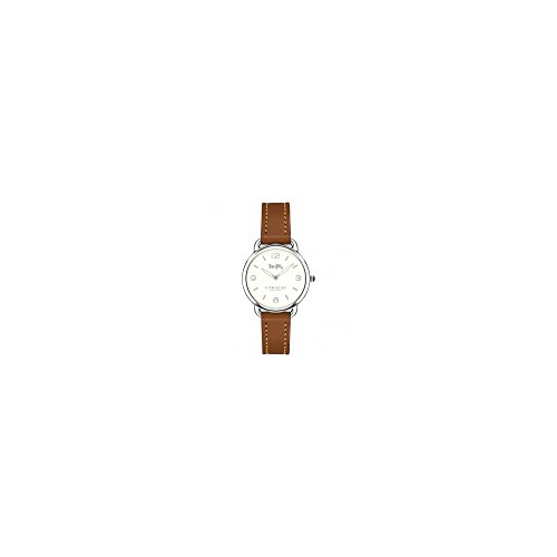 Coach Delancey Slim Cream Dial Ladies Leather Watch (Coach Cream)