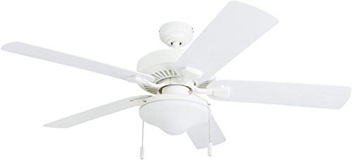 Honeywell Ceiling Fans 50513-01 Belmar Outdoor LED Ceiling Fan, ABS Weatherproof Blades, White