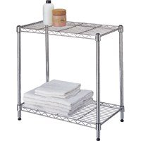 Shelf 2-Tier Stack Adj Chrome