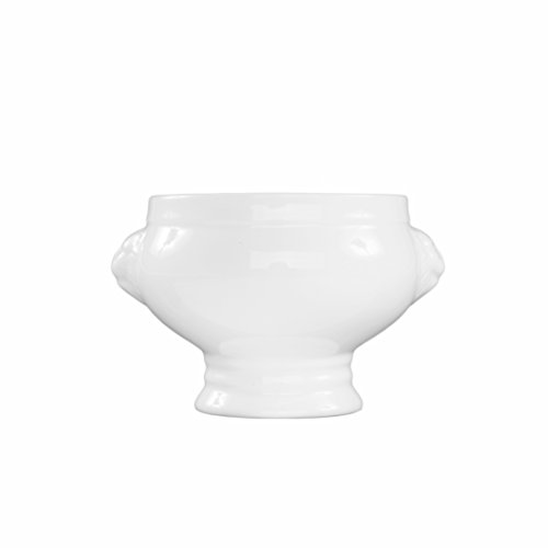 Fortessa Fortaluxe Vitrified China Dinnerware, Lion's Head Tureen/Bowl, 14.5-Ounce, Set of 6