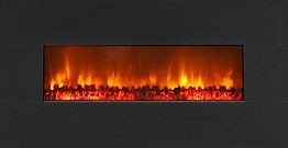 Dream Flame Wall Mount Linear Electric Fireplace Size: 38