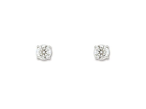 Espace Diamant - Femme - Boucles D'Oreilles Or Blanc Et Diamants 0.20 Carat HSI - Reference : EA201EGB2