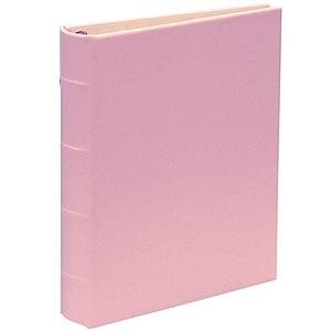 Standard 3-ring Baby-Pink Fine Leather binder unfilled by Graphic Image™ - 8.5x11 by Graphic Image