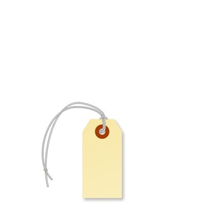 """1000-3 1//4/"""" x 1 5//8/"""" Size 2 Manila Inventory Shipping Hang Tags with String"""