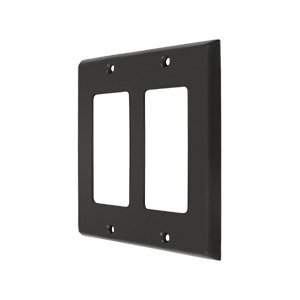 Deltana Oil Rubbed Switchplate - Deltana SWP4741 Double GFI Switch Plates, Oil Rubbed Bronze