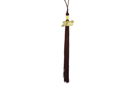 Graduation Tassel with 2011 Year Charm (Maroon) 2011 Graduation Charm