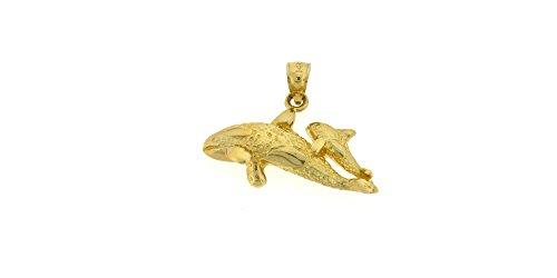 14k Yellow Gold Whales Pendant 14k Yellow Gold Whale Pendant