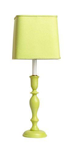 """Yessica's Collection 4958LIM LP7 Lamp with Lime Square Shade, 23"""" x 8.5"""" x 23"""", Lime Green"""