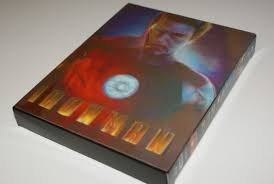 IRON MAN [3D Blu-ray+2D Blu-ray BLUFANS Steelbook Lenticular - Iron Man Steelbook