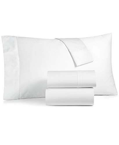 Charter Club Damask Solid Extra Deep Pocket Queen 4 Piece Sheet Set 550 Thread Count 100% Supima Cotton White (Queen Sheet Set Charter Club)