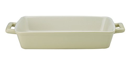 Mrs. Andersons Baking Oblong Rectangular Baking Dish Roasting Lasagna Pan, Ceramic, Wheat, 13-Inches x 9-Inches x 2.5-Inches by HIC Harold Import Co.