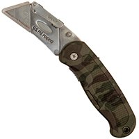 GreatNeckSawProducts Knife Utility Lockback Camo, Sold as 1 Each (Lockback Camo Knife)