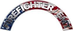 Firefighter EMT American Flag Firefighter Fire Helmet Arcs / Rocker Decals Reflective