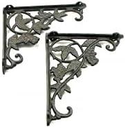Cast Iron Grape Corner/Shelf Brackets Set of 2