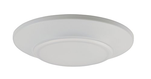 Maxim 57624WTWT Diverse LED Mini Flush Mount 3000K, White Finish, White Glass, PCB LED Bulb , 20W Max., Dry Safety Rating, 2700/3200K Color Temp, ELV Dimmable, Shade Material, 1400 Rated Lumens (Led Flush Outdoor Mount Mini)
