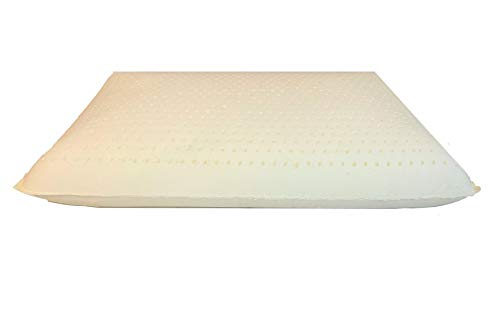 - OrganicTextiles Premium Low Profile Natural Latex Pillow, Low Height (Soft, Standard Size) with GOTS Certified Organic Cover Protector, for Side and Back Sleepers