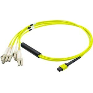 Addon 3M Mpo to 4Xlc Duplex Fanout Smf Yellow Patch Cable for Arista