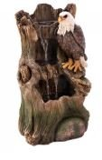 SKB FamilyEagle Strength Fountain Water Outdoor Indoor Weathered Tree Trunk New Cascading Stunning Majestic Fountains STONE POWDER