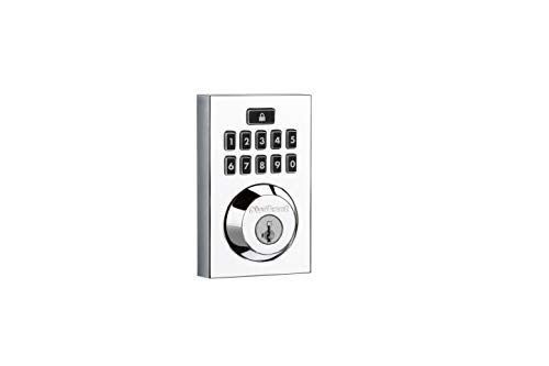 Kwikset Smartcode 913 Contemporary Electronic Deadbolt Featuring Smartkey In Polished Chrome